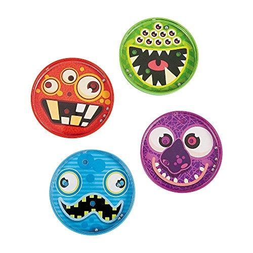 Elfen und Zwerge 4 x Monsterpuzzle Puzzle Kugelspiel Monster Monsterparty Geburtstag Giveaway Mitgebsel Kindergeburtstag Halloween (Halloween 7 Zwerge)