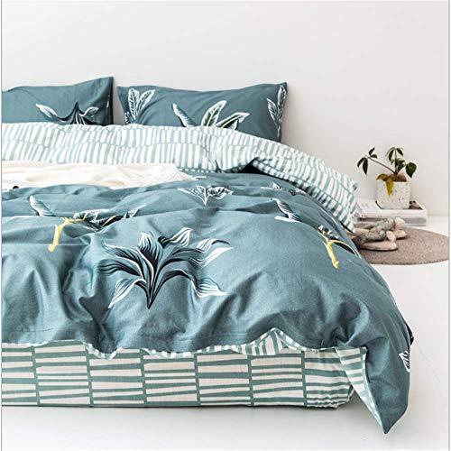 Urlaub Königin Tröster (SHJIA Geometrie Bettwäsche Set Flache Bettdecke Bettbezug Tröster Erwachsene Königin König Bettwäsche Set E)
