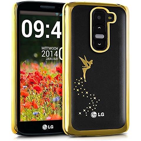 kwmobile Elegante y ligera funda Crystal Case Diseño hada para LG G2 Mini en oro transparente