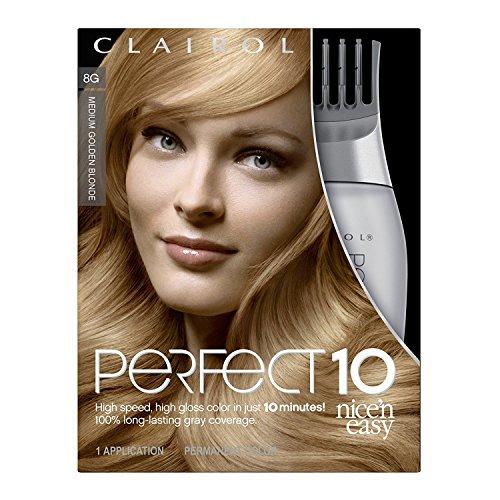 Clairol Coloration Nice 'N Easy Perfect 10 - Coloration riche et ultra-lustrée couvrant le gris à 100% en 10 minutes - Couleur 6A - Châtain cendré clair