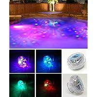 4 x LED Badewanne Beleuchtung mit Saugnapf, Badezimmer Dekoration, Unterwasser Led Lampen - kann auch als Whirlpool oder Poolbeleuchtung verwendet werden