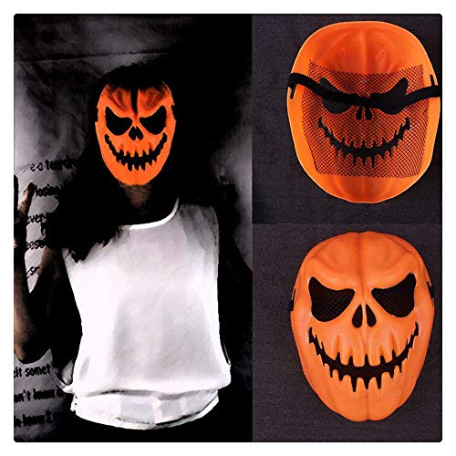 Z-one 1 Kürbis-Kopfmaske, Halloween-Requisiten, Gruselige Kürbismaske, Cosplay-Kostüme, elastische Kraft Dekoration (Halloween-kostüme Gruselig Sein Müssen)