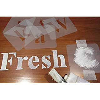 Alphabet Stencils Set, Choice of different sizes (40 mm) by Artstencils