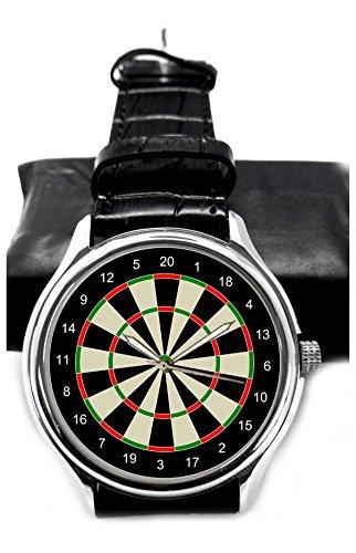 Pfeilwurfspiel! Klassische Dartboard Kunst 40 mm Sammler Armbanduhr. Darts!