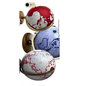 Casotec Globes Design Hard Back Case Cover for Apple iPhone 6 / 6S