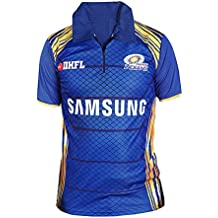 Brandsoon Men's Polyster Blue Digital Print M Size Mumbai Indians IPL T-Shirt (MI)