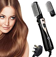 REBUNE RE-2078-2 1200W Hair Dryer Brush 3 In 1 Hot Air Styler Straightening & Curling Fast Heating (3s) Ha