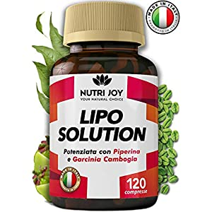 120 Compresse | Fat burner LIPO SOLUTION | Termogenico Naturale | MADE IN ITALY | Pillole Dimagranti Brucia Grassi… 1 spesavip