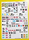 RC 18th maßstab DRIFT Sticker Aufkleber DRIFTENDE JDM GROßES DURCHSICHTIG VINYL VORGESCHNITTEN SET