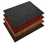 etm Design Schmutzfangmatte   mit Schnörkelmuster   für Eingangsbereich   Fußmatte in vielen Größen und Farben   grau 40x60 cm