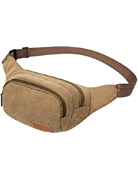 Buyworld Yesello Men's Canvas Waist Bags Women Funny Pack Men Belt Bag High Quality Money Phone Belt Bag