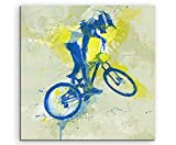 MTB 60x60cm SPORTBILDER Paul Sinus Art Splash Art Wandbild Aquarell Art