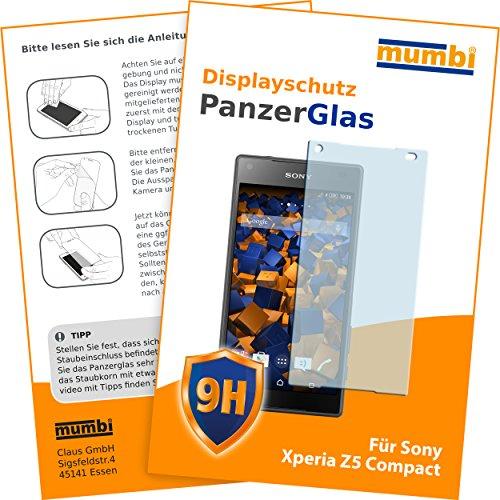 mumbi Panzerglasfolie Sony Xperia Z5 Compact Glasfolie Hartglas 9H