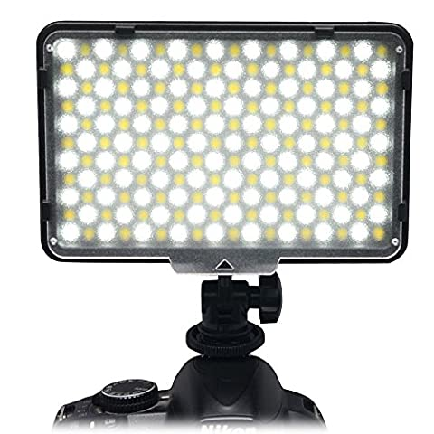 Mcoplus® LED-198B Bi-color LED Dimmable Ultra High Powered LED Studio Video Lighting With Metal Hot Shoe mount Color Temperature(3200K-7500K) for Canon, Nikon, Pentax, Panasonic,SONY, Samsung and Olympus Digital SLR Cameras