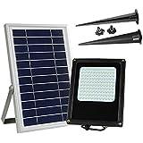 XYDM Luz de inundación solar Super Brillo 120 LED Impermeable Cuerpo de aluminio Al aire libre Focos