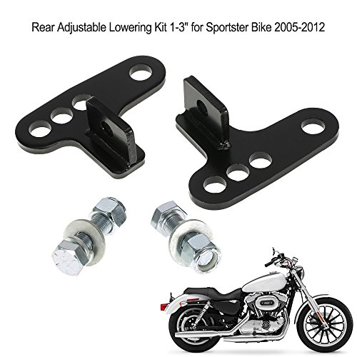 'KKmoon Download verstellbar hinten, 1 - 3 Kit für Harley Touring Bike para Harley Sportster 2005-2012