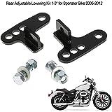 "KKmoon Kit de Bajada Ajustable Trasera, 1-3"" para Harley Sportster 2005-2012"