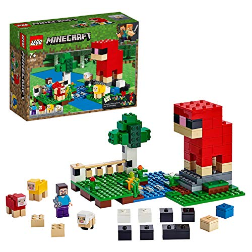 LEGO 21153 Minecraft Wool Farm Adventures Sheep Figures and Steve Minifigure Building Set Best Price and Cheapest