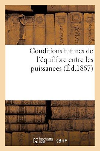 Conditions futures de l'équilibre entre les puissances