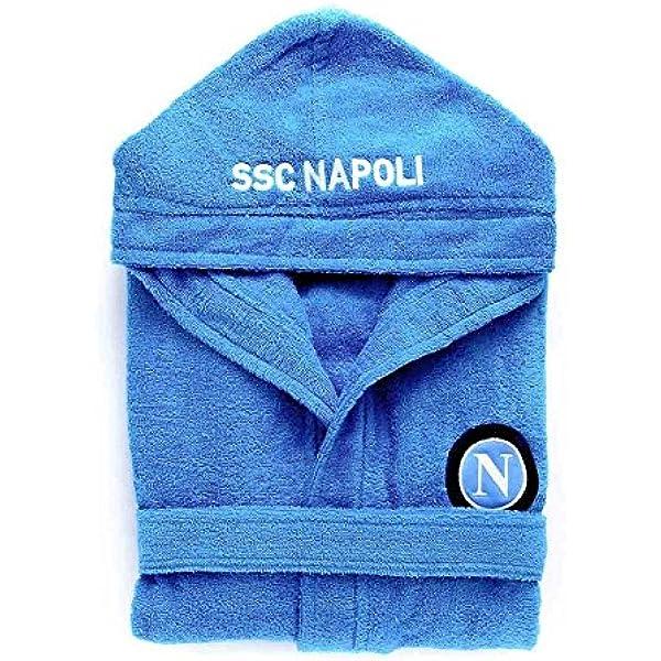 Naples peignoir /éponge adulte SSC officiel id/ée cadeau Football 100/% coton S bleu ciel