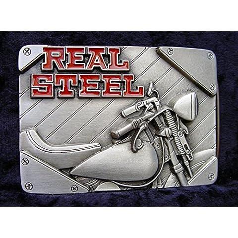 REALE fibbia in acciaio Harley Davidson Softail Springer