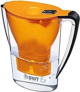 BWT 815074 Tischwasserfilter Penguin, 2,7 L, mit einer Kartusche Magnesium Mineralizer für 120 L gefiltertes Leitungswasser, orange