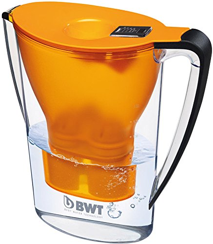 BWT Tischwasserfilter Penguin 2,7l orange; mit einer Kartusche, angereichert mit wertvollem Magnesium für höchste Vitalität (Wasser Flasche Brauch)