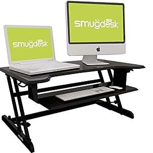 B Steh-Sitz Schreibtisch höhenverstellbarer Aufsatz Laptop