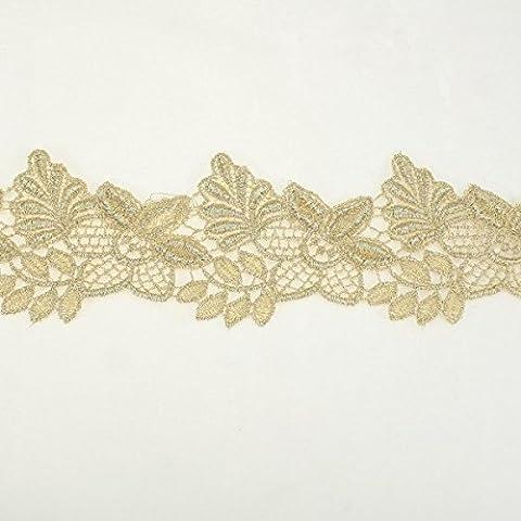 55 mm, colore: oro con bordi smerlati,
