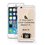 licaso iPhone 5 5S SE Hülle Apple aus TPU Silikon Can't Stop Thinking About it - Buy it Fashion Design Ultra-dünn Schutzhülle (iPhone 5 5S SE, Can't Stop Thinking About it - Buy it)