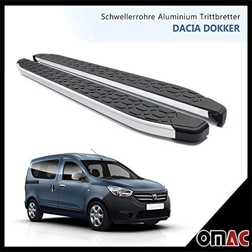 OMAC schweller tubi alluminio Pedane per Dacia Dokker LODGY 2013> Blackline (203)
