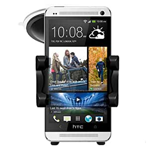 New 2013 HTC One In Car Phone Holder Windscreen Suction Mount Rotating Cradle - In Car Charger - Accessories By Sunwire®
