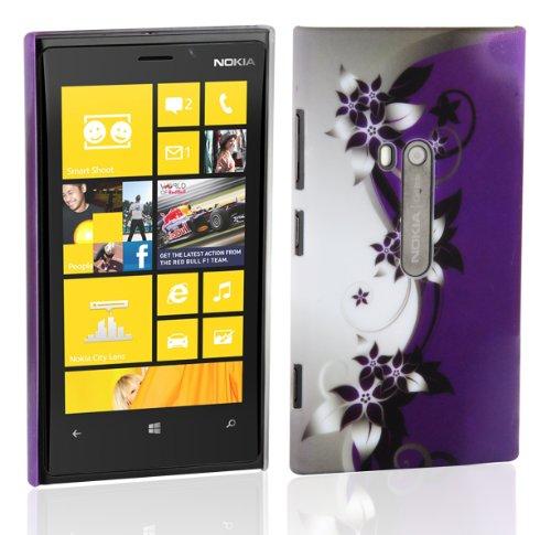 Cadorabo – tpu hard cover per > nokia lumia 800 < - case cover involucro bumper accessorio in design: fiore-violetta