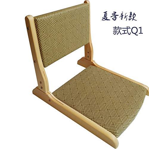 Huertuer Stuhlhusse, Meditations-Matten Bodenstuhl, zusammenklappbar, natürliche Materialien [japanischer Stil] Bambus schwimmender Fensterstuhl L N