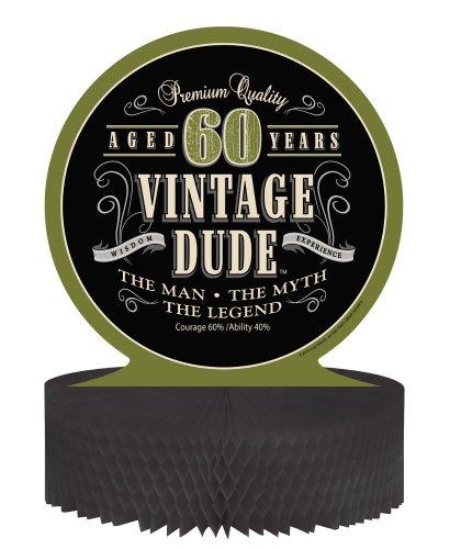 Unbekannt Creative Converting Vintage Dude 60. Geburtstag Mittelpunkt mit Wabenboden (Dude-party Dekorationen Vintage)