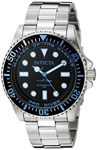 Invicta 20122 Pro Diver Orologio da Uomo acciaio inossidabile Quarzo quadrante nero