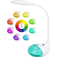 WILIT Q10 Lampe de Bureau LED avec 256 Lumière Colorée RGB et Batterie 2000mAh, Lampe de Chevet USB Rechargeable…