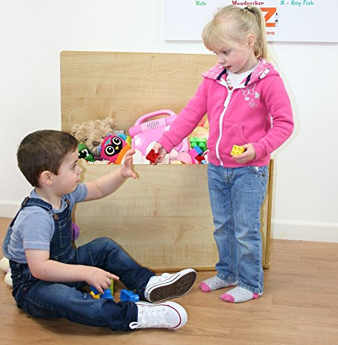 XL de los niños juguete caja de almacenamiento Otomano de pecho (Natural)