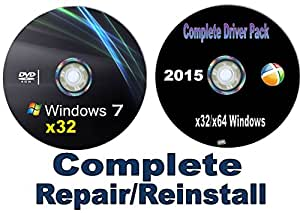WINDOWS 7 Home Basic x32/32 bit Repair/Recovery/Restore Boot Disc ~Fix PC~ Complete w/Updated Drivers Disc for Windows and your PC/Laptop/Desktop ~Full Support Included~ SATISFACTION GUARANTEED or YOUR MONEY BACK!!!