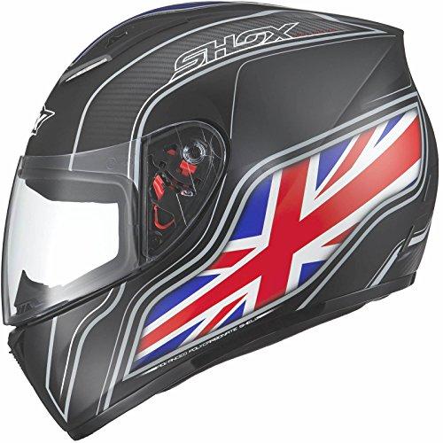 Shox Axxis Identity Motorcycle Helmet M UK Matt Black