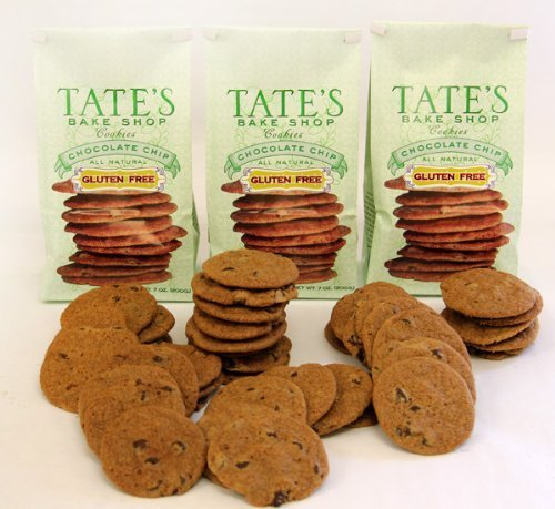 Tate's Bake Shop All Natural Gluten-Free Chocolate Chip Cookies 7oz (Pack of 3) by Tate's Bake Shop