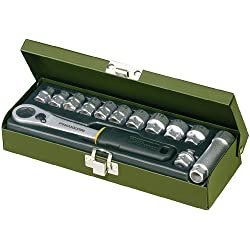 PROXXON 23602 Feinmechaniker-Spezialsatz 13tlg. 5,5-14 mm - mit offener Ratsche