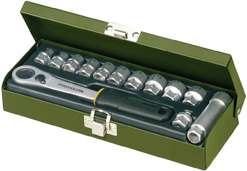 PROXXON 23602 Feinmechaniker-Spezialsatz 13tlg. 5,5 - 14 mm - mit offener Ratsche