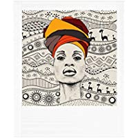 Lampe Weiß Frau Afrika
