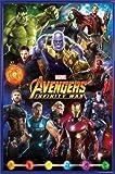 1art1® Los Vengadores Póster con Marco (Plástico) - Infinity War, Characters (91 x 61cm)
