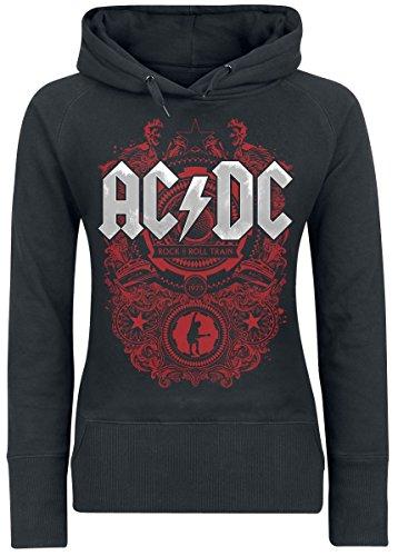 AC/DC Rock N Roll Train Girl-Kapuzenpulli schwarz M (Kapuzen-pullover Dc)