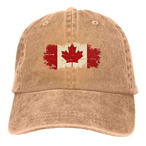 Oiup 089iuop Vintage Kanada-Flagge L?ssige Unisex-Baseballm¨¹tzen Washed Cowboy Hat Adjustable Trucker Hat