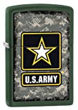 Zippo US Army Star winddicht Feuerzeug, Herren, US Army Star, Green Matte