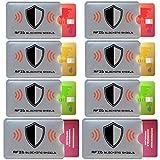 FreeHaveFun RFID Blocker NFC Schutzhülle 8er Set Gratis Ebook | Schutz vor Datendiebstahl | 6X Kreditkarte Personalausweis + 2X Reisepass RFID Schutz Hülle + 8 Sticker Farbig
