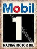 Mobil 1 De course Huile De Moteur, Garage Vintage Motorsport Annonce Métal/Panneau Mural Métalique - 40 x 30 cm